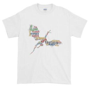 Майка «Фэнтези Дракон» Short-Sleeve T-Shirt (Белая, чёрная тёмно-синяя)